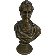 19thC Bronze Bust of Duke of Wellington-Nice!