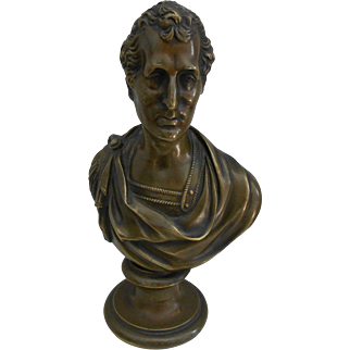 19thC Bronze Bust of Duke of Wellington-Nice!