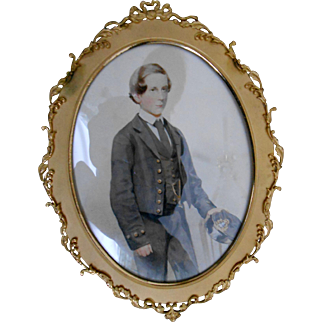 English Watercolor Portrait of Midshipman - C 1900