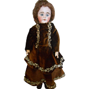 19thC German Bisque Head Doll-Beautiful Face!