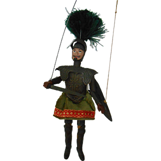 Antique Knight Marionette Puppet-Very Nice!