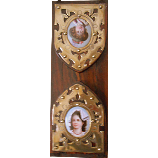 Antique Book Slide with Portraits-Lovely!