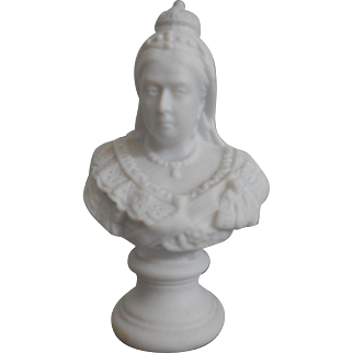 Very Rare Antique Miniature Bust of Queen Victoria