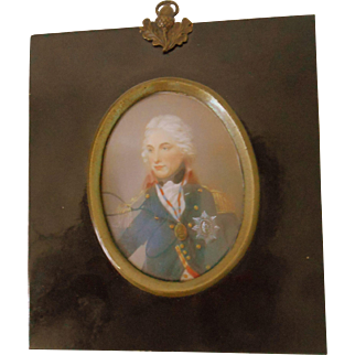 Antique Portrait Miniature of Admiral Lord Nelson