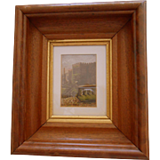 Antique Miniature Painting of Haddon Hall England