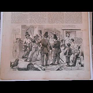 Antique Harper's Weekly Newspaper-October 24, 1857