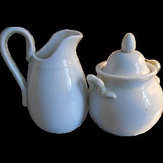 Antique Cream & Sugar Child's Tea Set-C1900