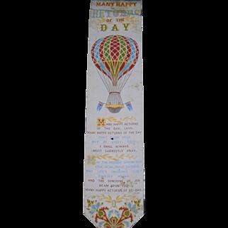 Antique Stevensgraph Woven Silk Book Mark-This one is Rare!