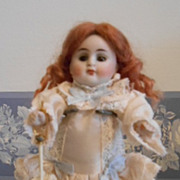 Antique German All bisque with Glass Eyes-Nice!