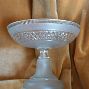 Art Deco French BACCARAT Crystal Compote, Fruit Bowl, Centerpiece C 1945