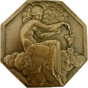 Original Pierre Turin French Art Deco Bronze Medal for the 1925 Paris Exposition Internationale des Arts Décoratifs