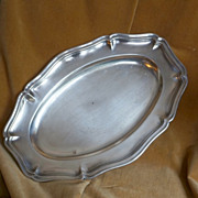 Antique French Christofle Silver Plate Tray from Le Grand Hotel Paris, c 1875