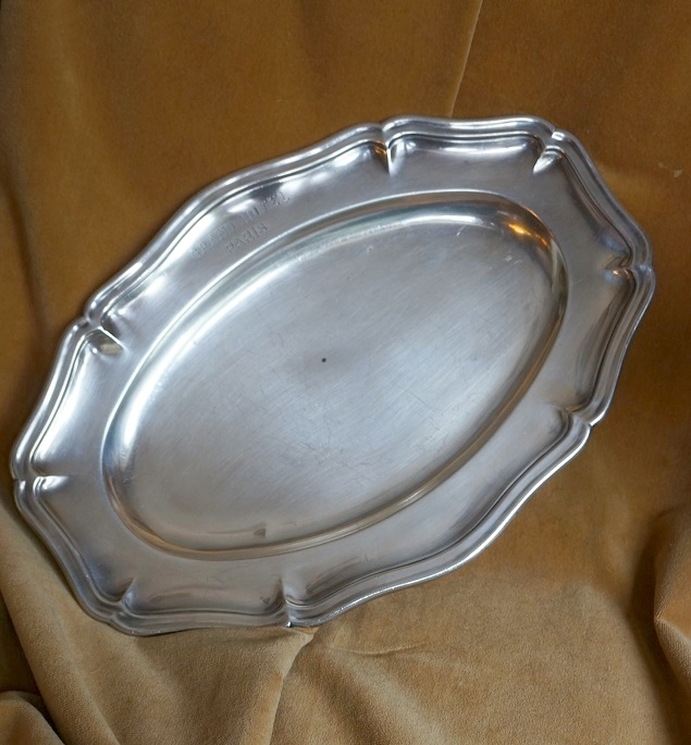 Antique French Christofle Silver Plate Tray from Le Grand Hotel Paris SOLD   Ruby Lane & Antique French Christofle Silver Plate Tray from Le Grand Hotel ...