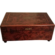 19th Century French Music Box; Inlaid Wood; 2 Lovely Songs