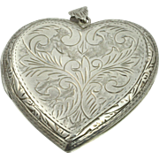 Large Vintage SS Heart Locket