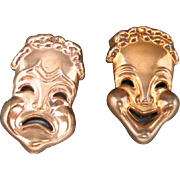 Renoir earrings Tragedy and Comedy COPPER