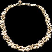 Trifari necklace gold tone Links ChokeR Length