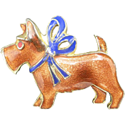 Enamel Dog PIN SCOTTIE Westie Terrier
