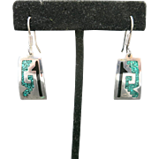 Crushed Turquoise Earrings Sterling silver Pierced