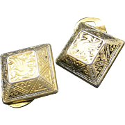Damascene earrings CLip ON Spanish Toledo