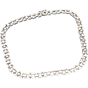 Sterling silver Necklace Tank track chain MEXico