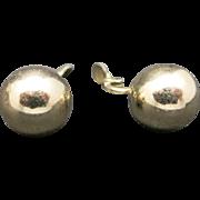 Monet earrings Gold tone CLIP on BIG Balls