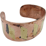 Cuff bracelet BRASS INLAY Metales Casados COPPER