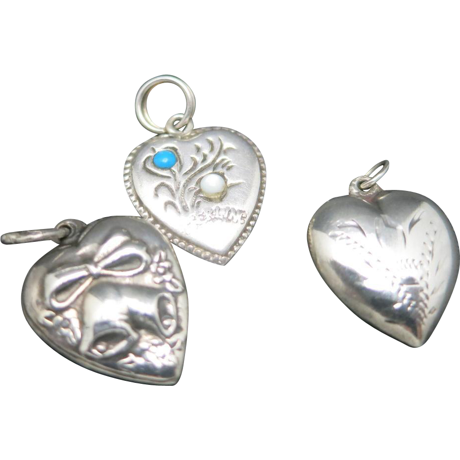 sterling silver charms trio vintage locket from