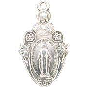 Miraculous Medal Sterling silver FRENCH Language