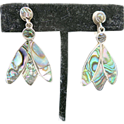 Abalone shell earrings SCREW ON Mexico