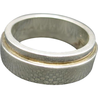 Gucci ring sterling silver band ring size 7