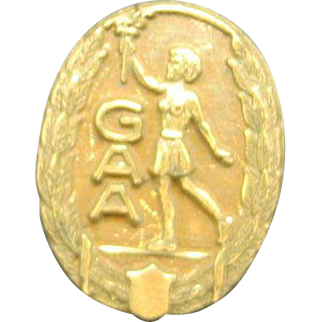 Girl's Athletic Association Pin Torch GOld plated