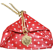 Florentine leather coin purse Red leather
