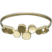 Trifari Bracelet Desirable Modern Design Gold tone