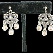 Solje earrings 830 silver filigree screw on J