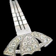 Rhinestone hair comb Art Deco BRIDE Wedding