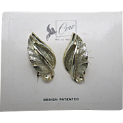 Coro earrings New With Tags gold tone screw on