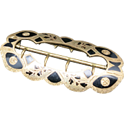 Big bold buckle Brass and Inlay rocker engraving