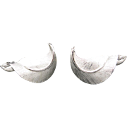 Trifari earrings Silver tone Cool Sixties