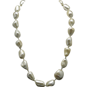 Faux Baroque pearl necklace Glass