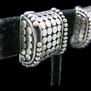 John Hardy earrings Silver clip on Vintage