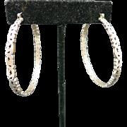 Sterling silver Hoop earrings LArGE