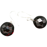 Cherry amber earrings Faceted Beads Pierced