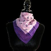 Violin scarf Vintage purple silk Strings NWU