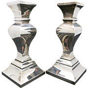 Silver plated Candle Sticks Classical traditional