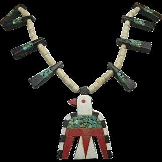 Battery Bird necklace Santo Domingo pueblo