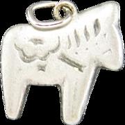 Dala horse pendant Sweden Pewter pony equestrian