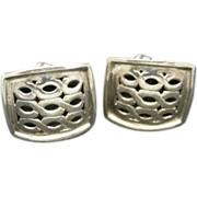 John Hardy Earrings Sterling Silver Clip On Big Rectangles