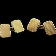 Cufflinks 18 Karat Yellow GOLD English hallmarks H.G. & S.