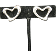 Elsa Peretti Earrings Tiffany Clip on Hearts